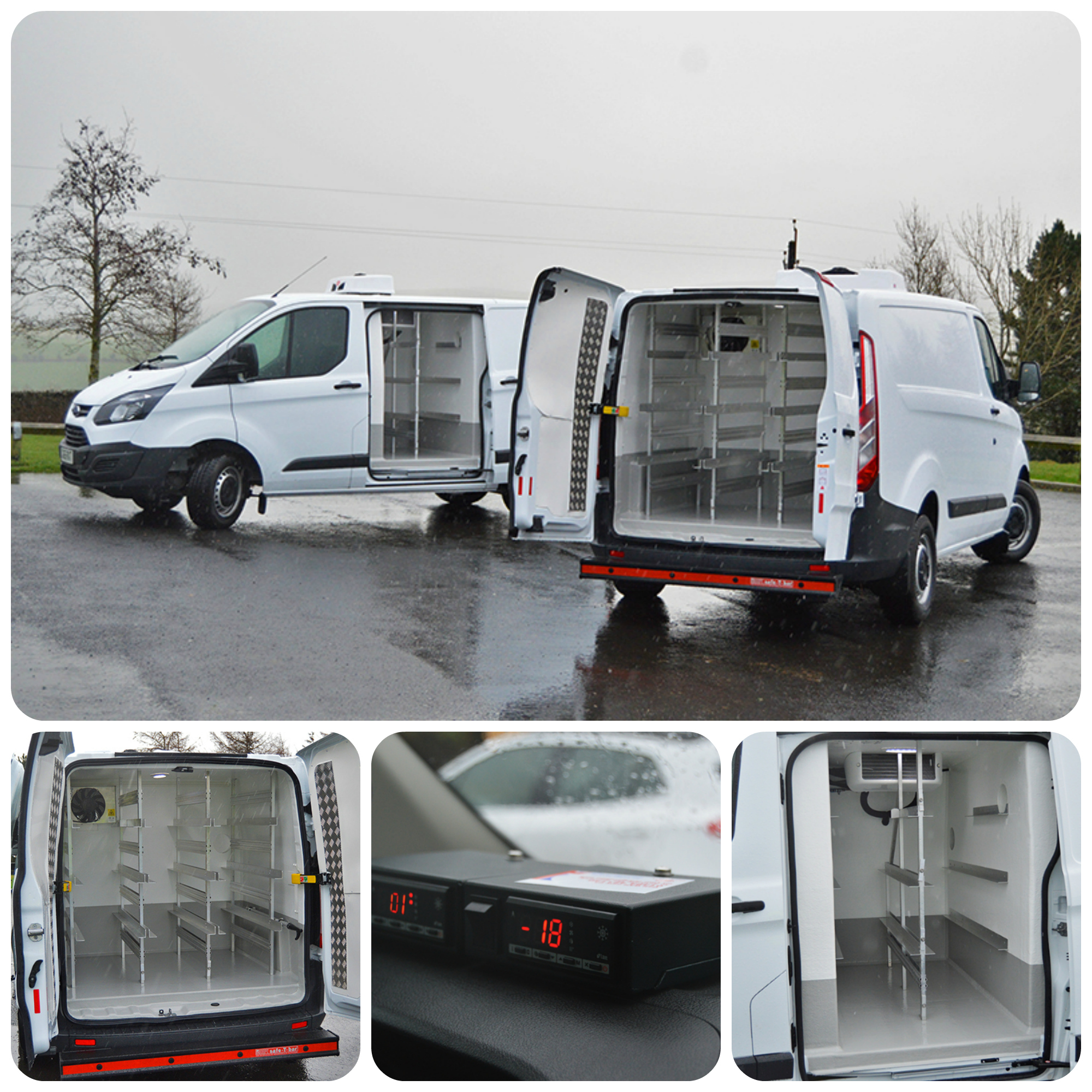 A selection of refrigerated vehicles made in the UK by CoolVan