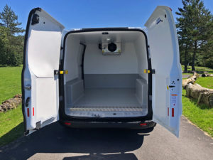 inside a ulez and clean air zone compliant fridge van